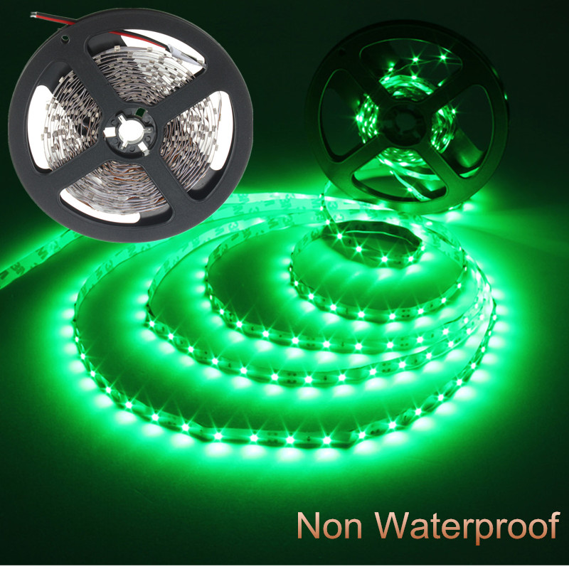 5M 3528 SMD 300 LEDs Green Non-waterproof led strip lights DC 12V