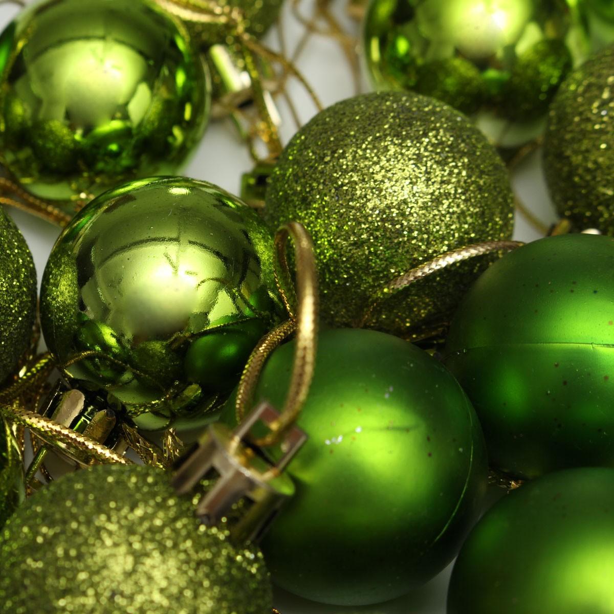 4 Sets 24pcs Glitter Christmas Balls Baubles Xmas Tree