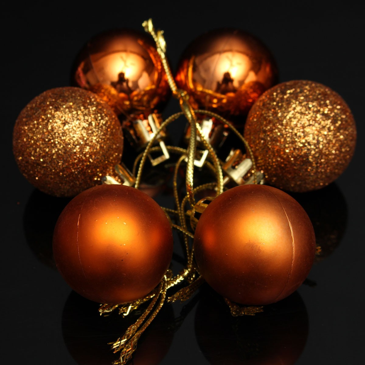Decorating Christmas Balls With Glitter : Pcs glitter christmas balls baubles xmas tree hanging