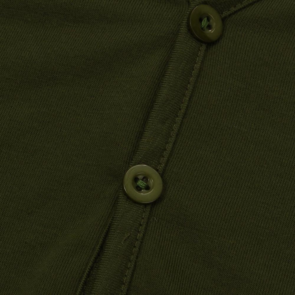 Men Summer Cotton Blended Solid Button Short Sleeve V-neck T-shirt