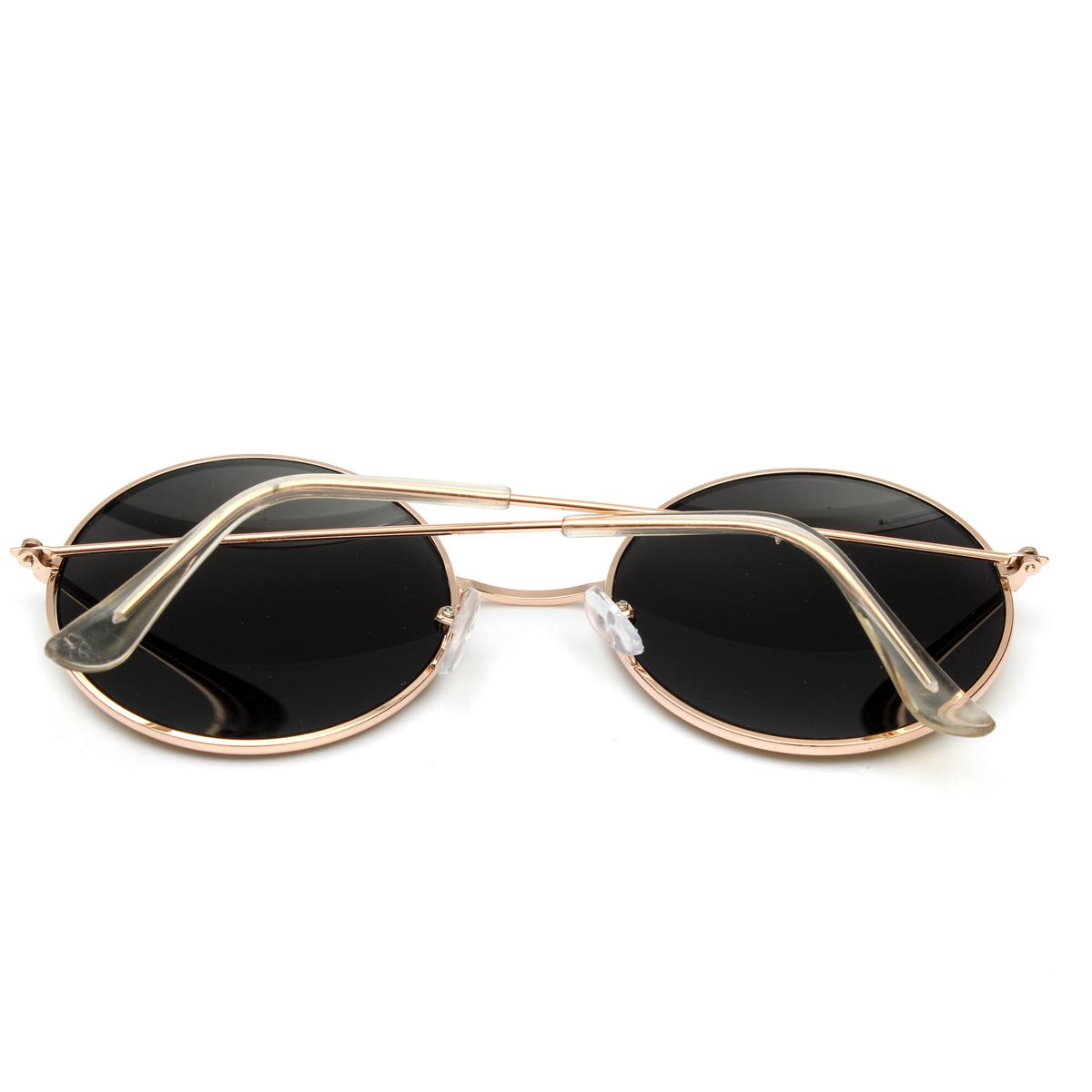 Round Frame Glasses Malaysia : Retro Vintage Men Women Big Round Metal Frame Sunglasses ...