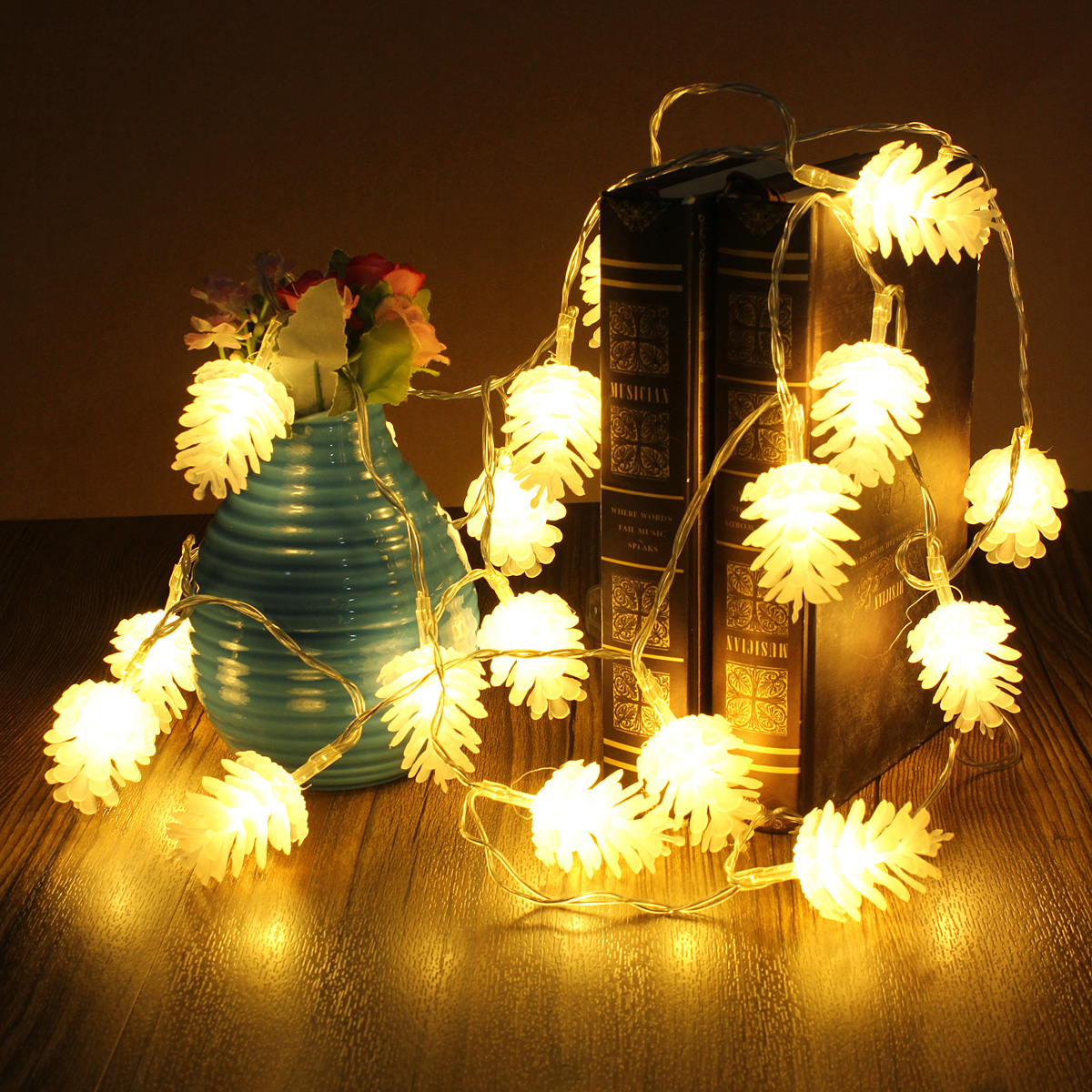led decorative lights for weddings 2 2m 20 led pine cone string light lamp wedding 5442