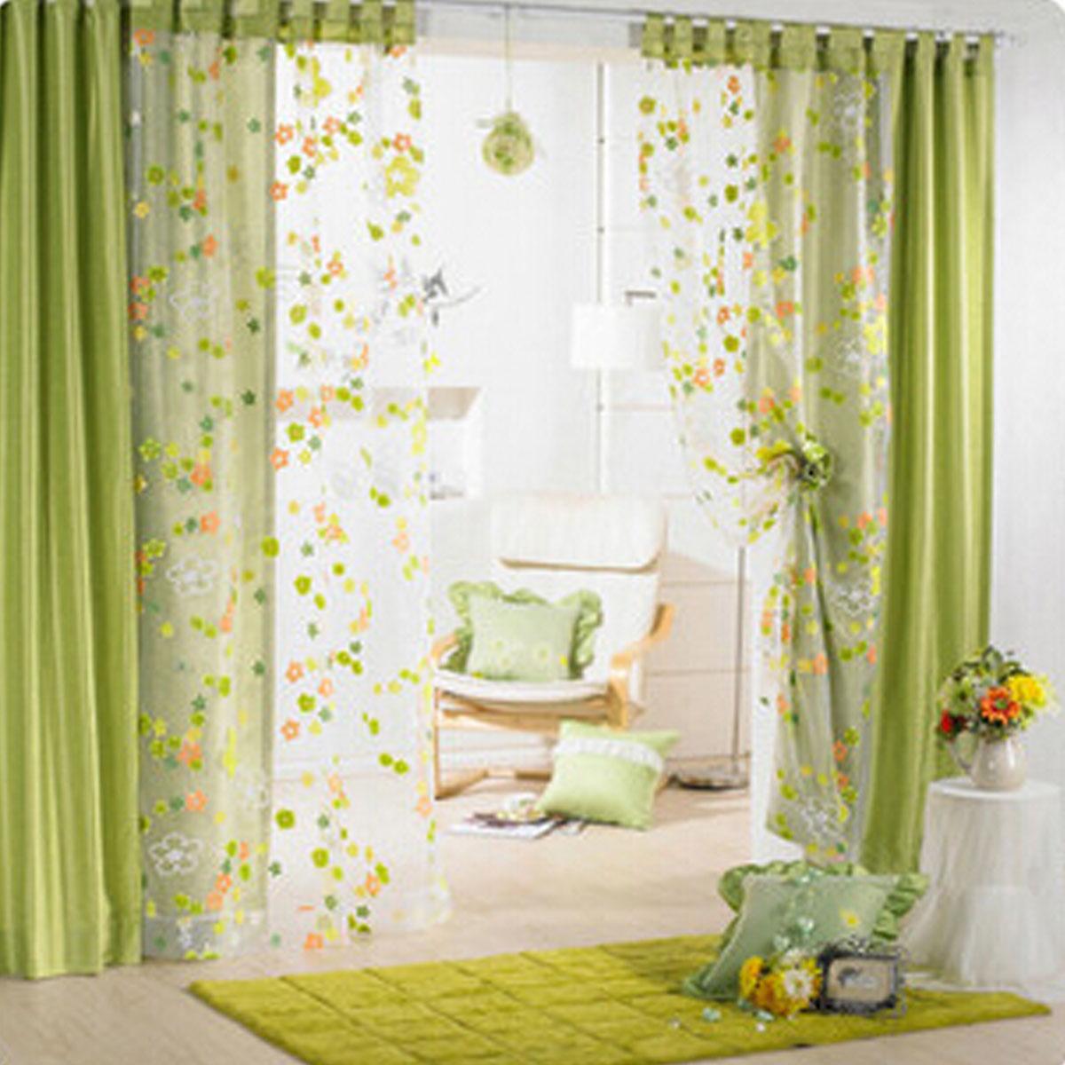Flower floral door window curtain dr end 5 4 2018 10 15 am for Tende sala on line