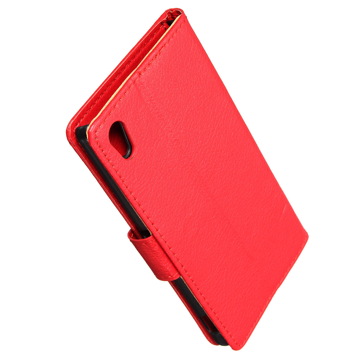 Magnetic PU Leather Flip Wallet Case PC Hard Cover Stand For Sony Xperia M4 Aqua