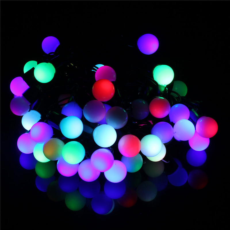 5m 50 led guirlande lumineuse int rieure ext rieur boule - Guirlande exterieure multicolore ...