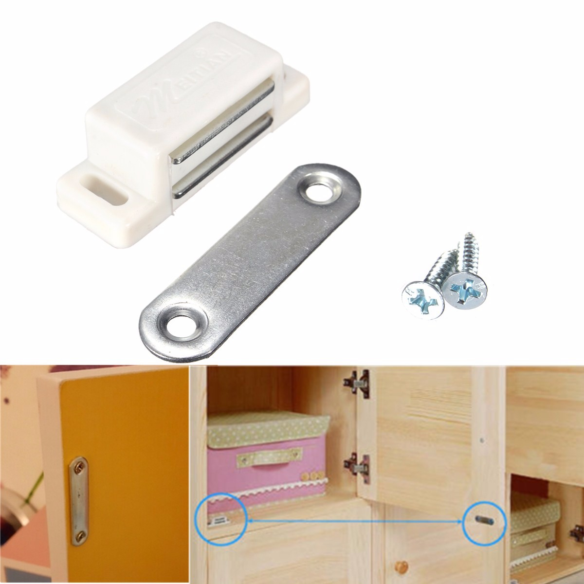 magnetic door stopper wall catches holder latch kitchen
