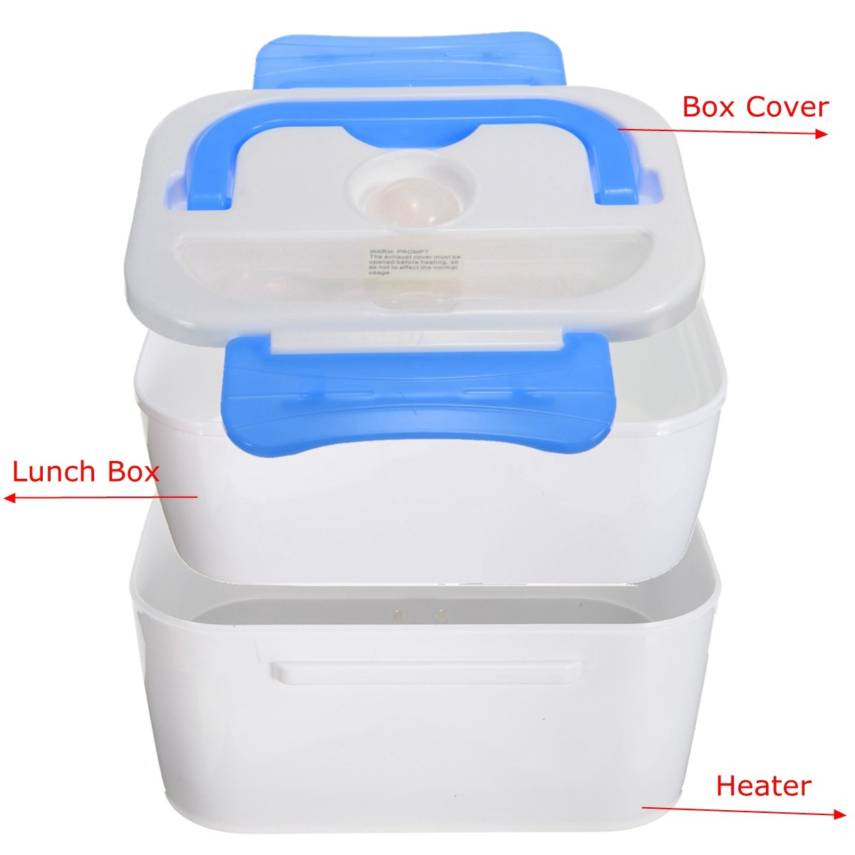 portable electric heated car plug heating lunch box bento box food warmer 12v blue export. Black Bedroom Furniture Sets. Home Design Ideas