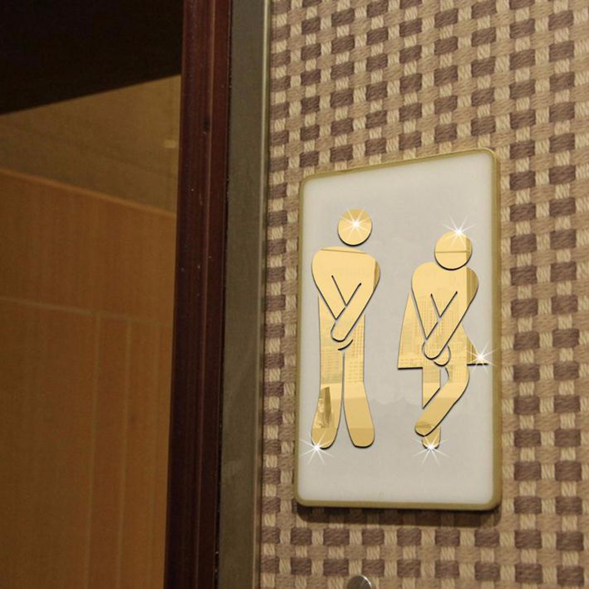 3d toilet wc man women decor removable decal vinyl art wall sticker mirror decor lazada malaysia - Decor wc ...