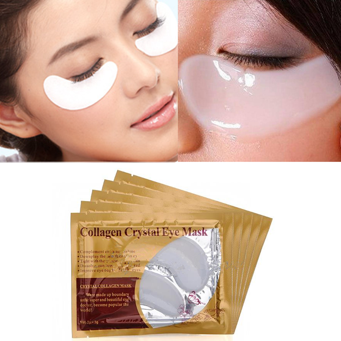 collagen crystal eye bag mask how to use