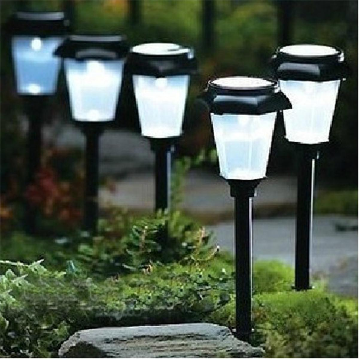 Solar power led light 3 color changing garden outdoor landscape stake path lamp lazada singapore for Solar garden stakes color changing