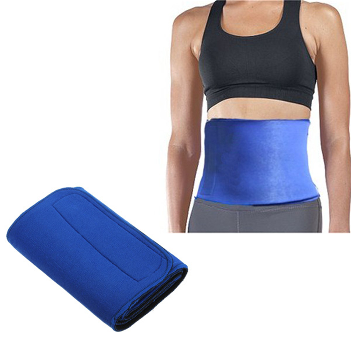 Slimming Waist Belt Wrap Body Fitness Fat Cellulite Burner ...