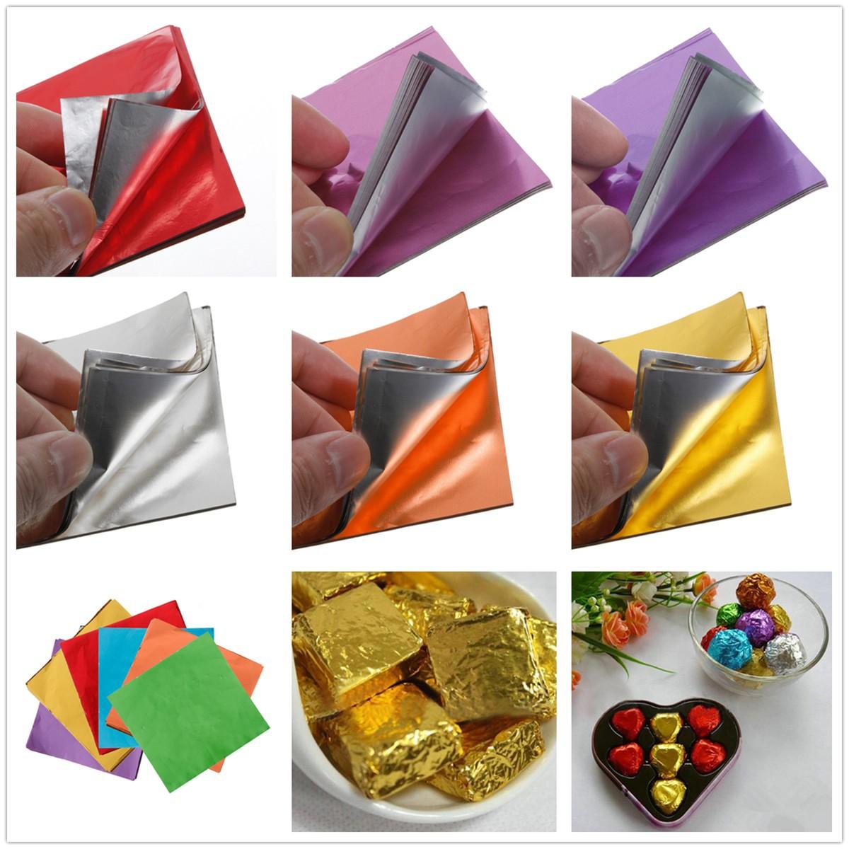 tempsa 100pcs papier aluminium pour d cor chocolat bonbon vert achat vente emballage. Black Bedroom Furniture Sets. Home Design Ideas