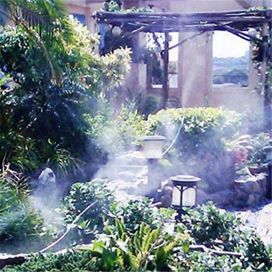Garden Misting System : M outdoor garden misting cooling system plastic mist
