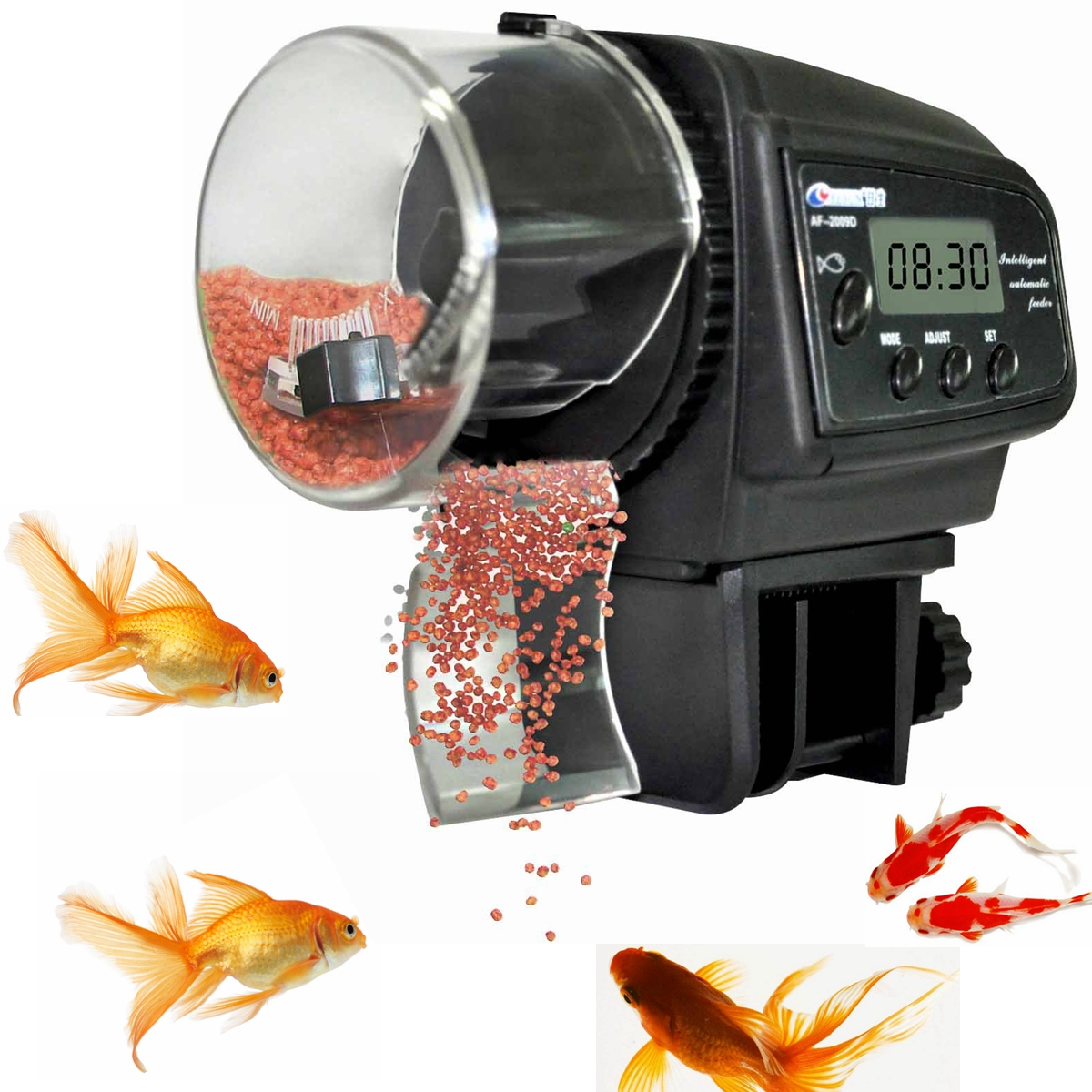 Lcd digital auto automatic fish foo end 7 30 2019 11 15 pm for Automatic pond fish feeder