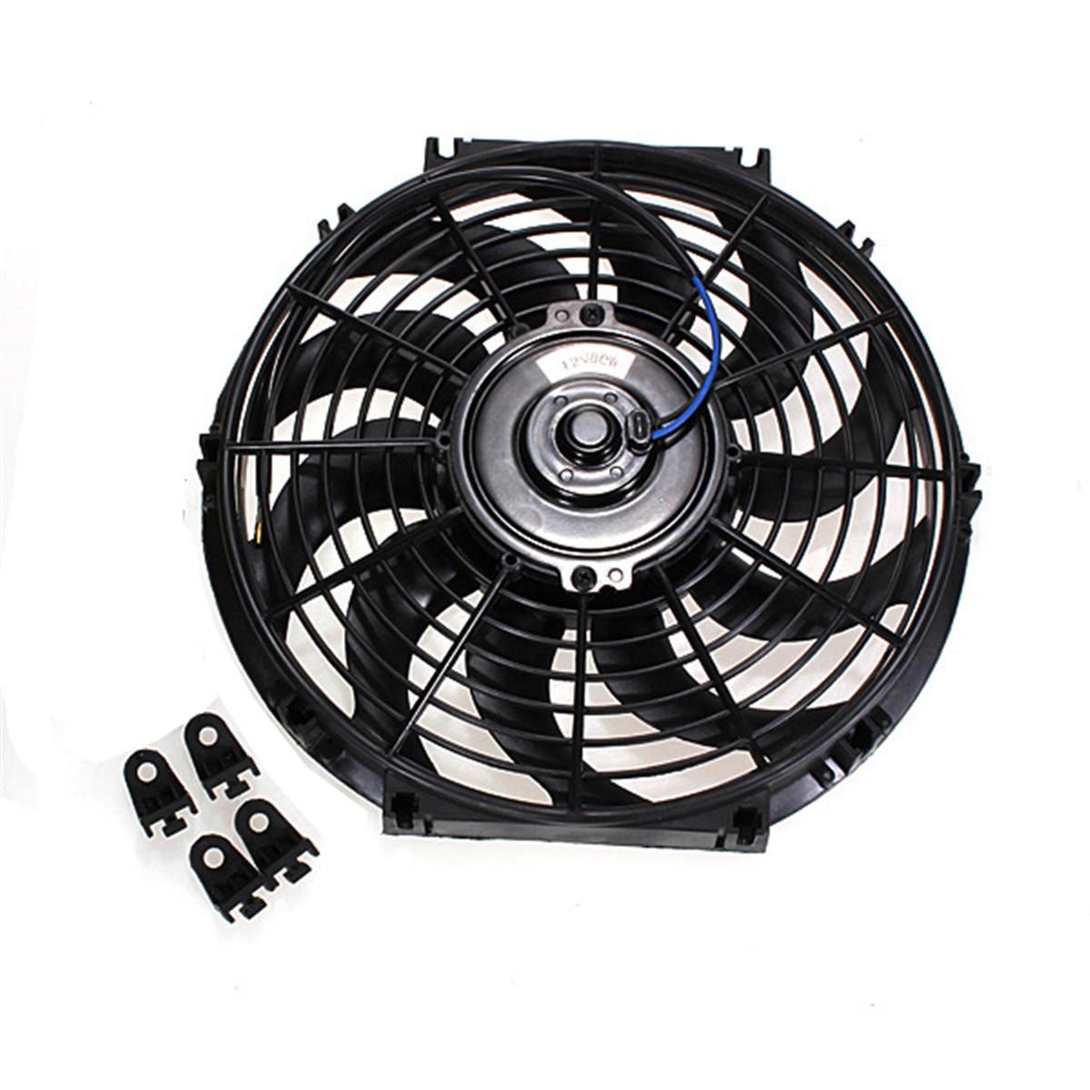 12 inch auto lectrique radiateur ventilateur fan refroidissement thermostat 12v prix pas cher. Black Bedroom Furniture Sets. Home Design Ideas