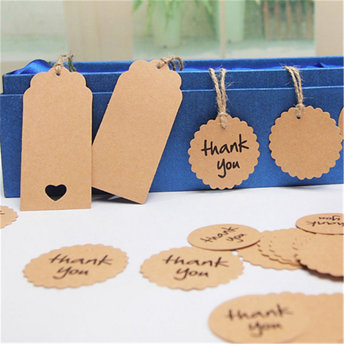 Wedding Favors Tags Singapore : ... Tags Brown Wedding Party Favor Gift Label + Strings Lazada Singapore