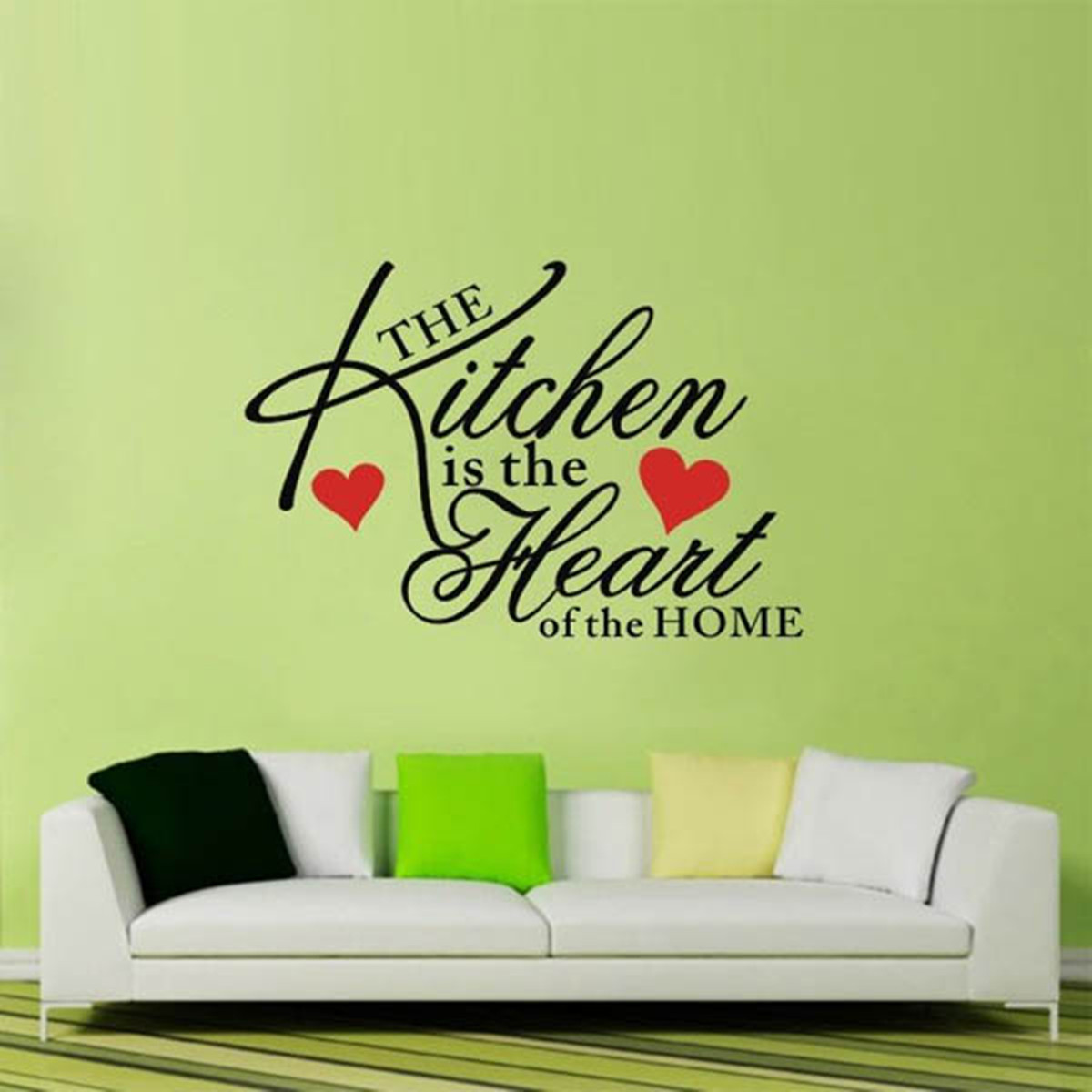 Kitchen Home Heart Removable Vinyl Wall Stickers DIY Decor