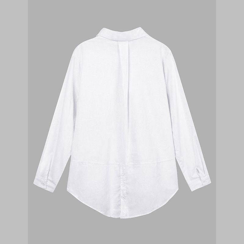 Zanzea Wanita Blus Kemeja Kasual Lengan Baju Panjang Yang
