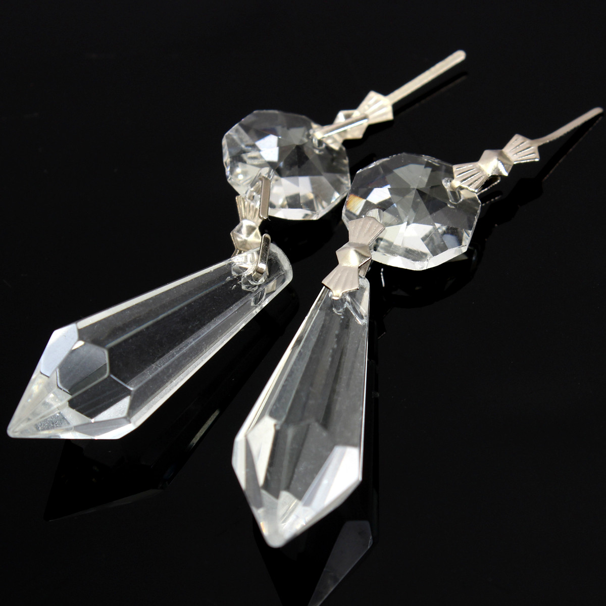 10X Chandelier Clear Glass Crystal Lamp Prism Hanging Drop