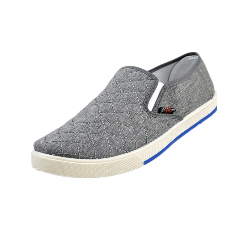 fashion mens canvas driving shoes breathable slip on