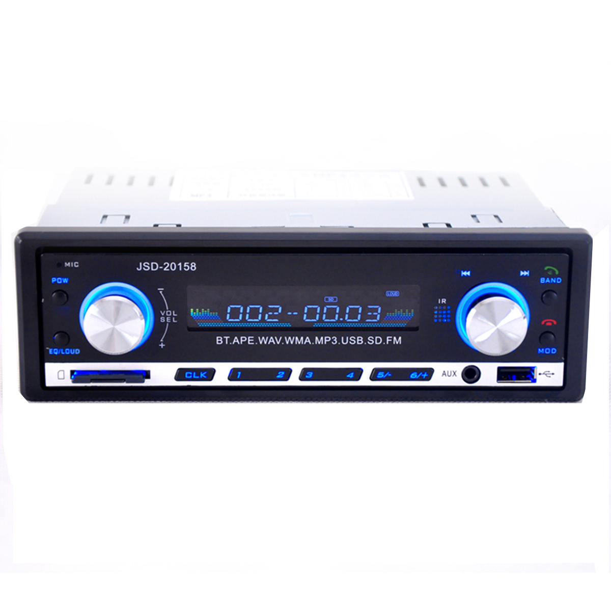 bluetooth car stereo mp3 player usb sd aux audio player 1 din in dash radio lazada malaysia. Black Bedroom Furniture Sets. Home Design Ideas