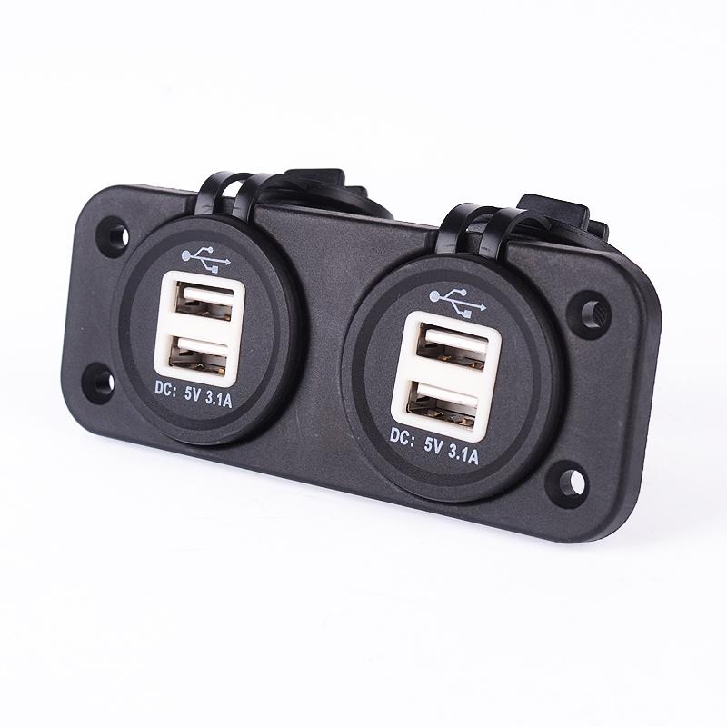 Generic Adattatore Caricabatterie 4 USB Socket Power Adapter 12V LED