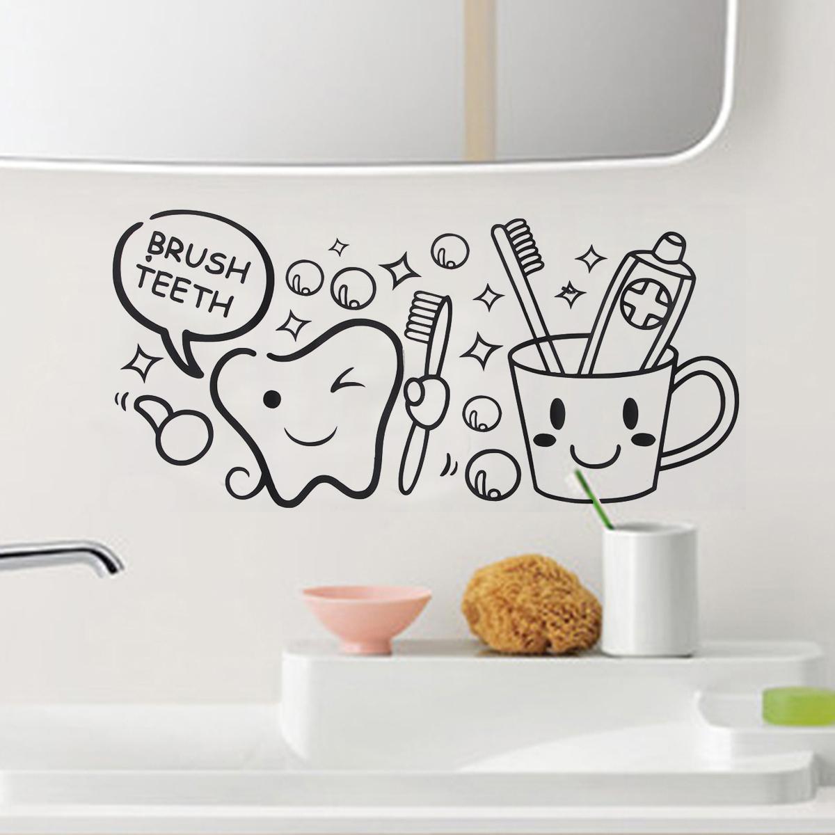 Sticker Salle De Bain Toilette Mural Mur Décoration