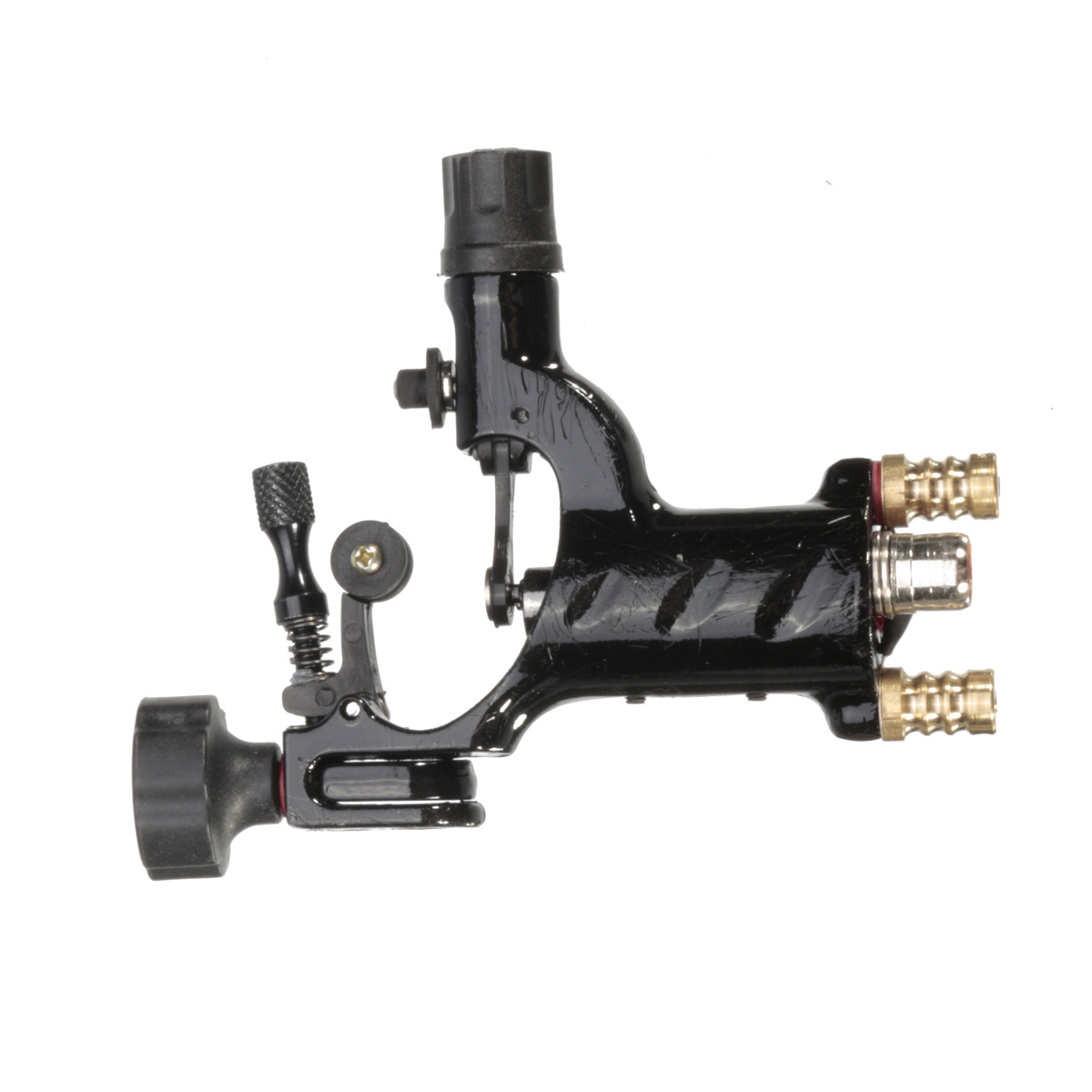 Black Silent Rotary Motor Tattoo Dragonfly Machine Gun For