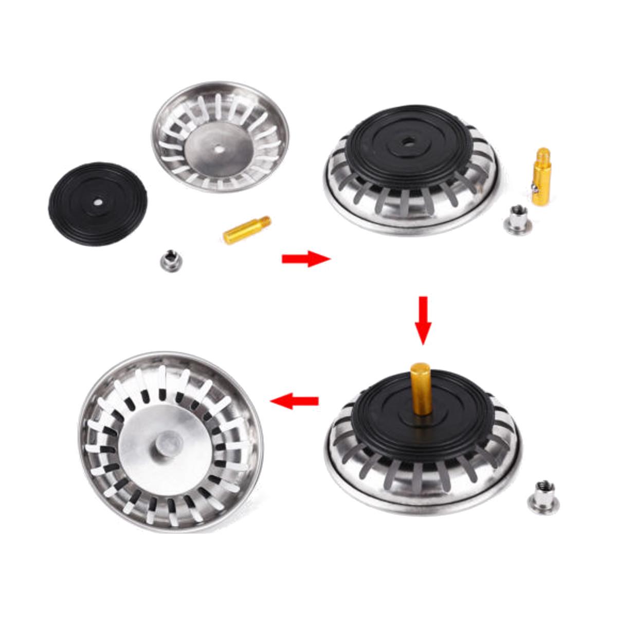 grille filtre filtrage evier plug passoire panier lavabo inox pour cuisine 83mm achat vente. Black Bedroom Furniture Sets. Home Design Ideas