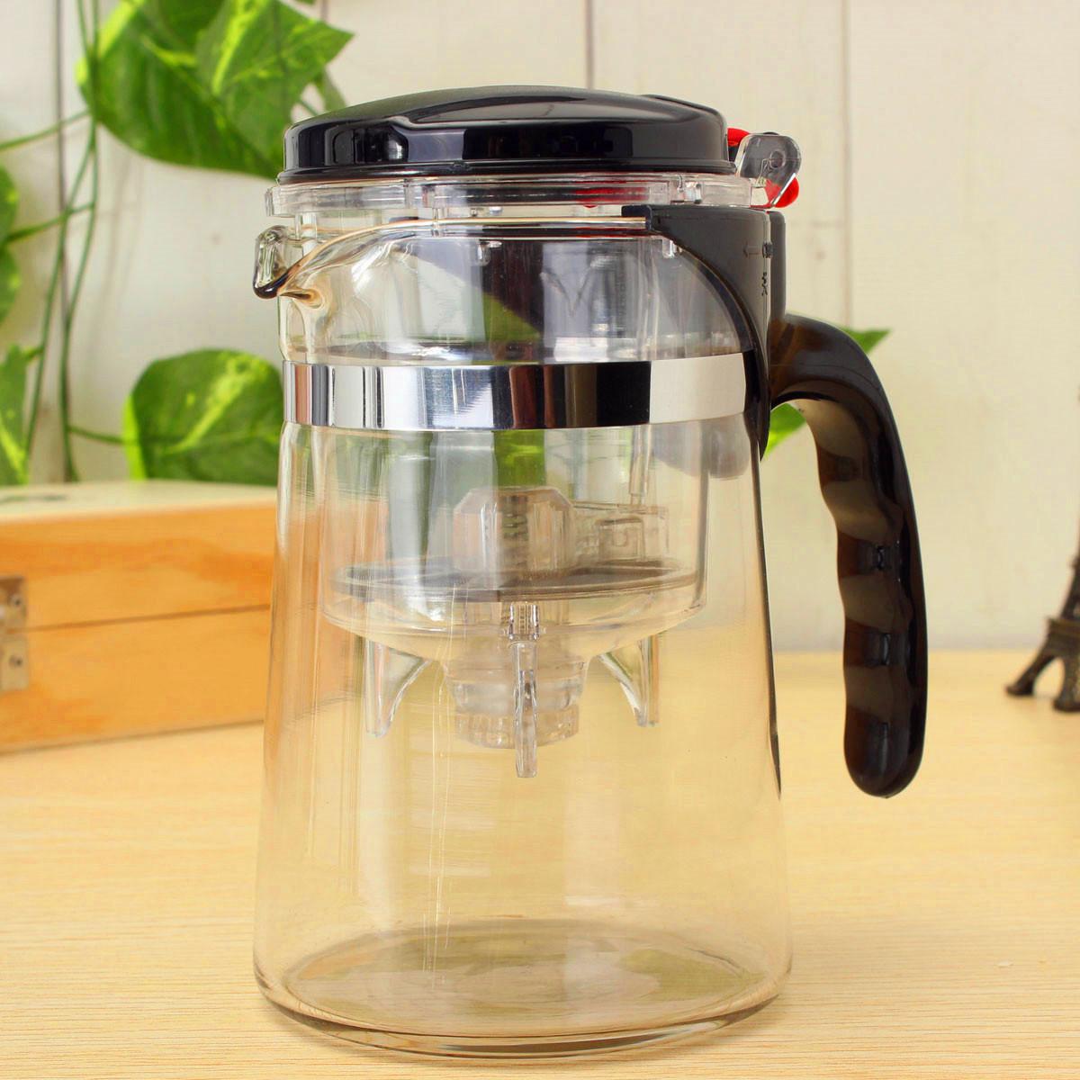 Clear Glass Tea Coffee Maker Mug Pot With Filter Infuser Straight 500ml 17Oz Lazada PH
