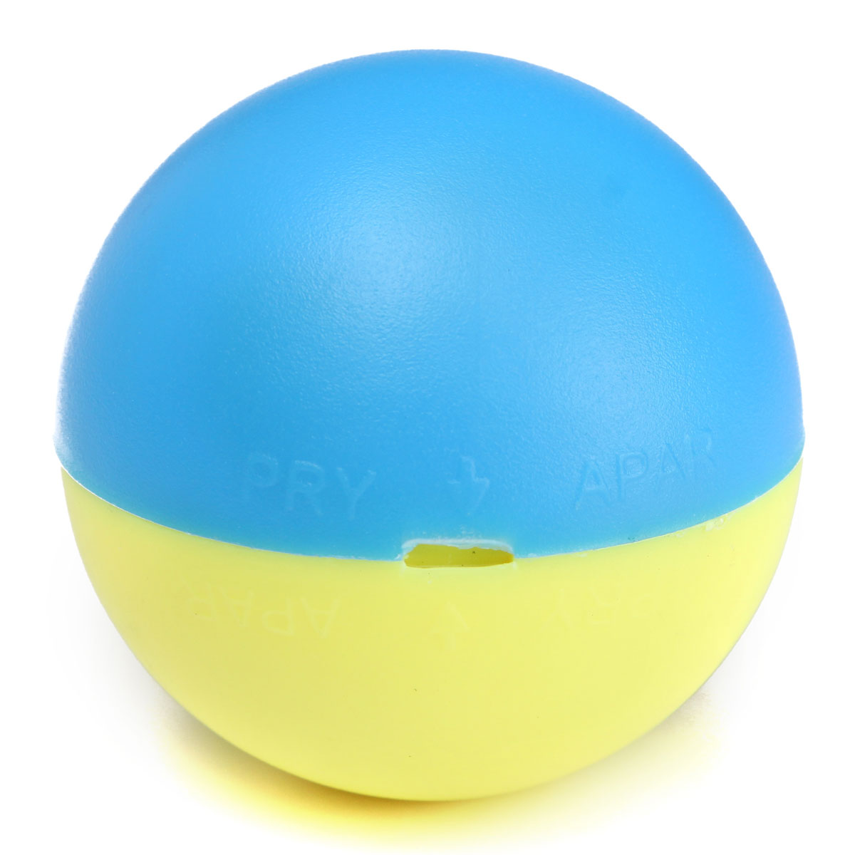 Round yellow cat toy with ball