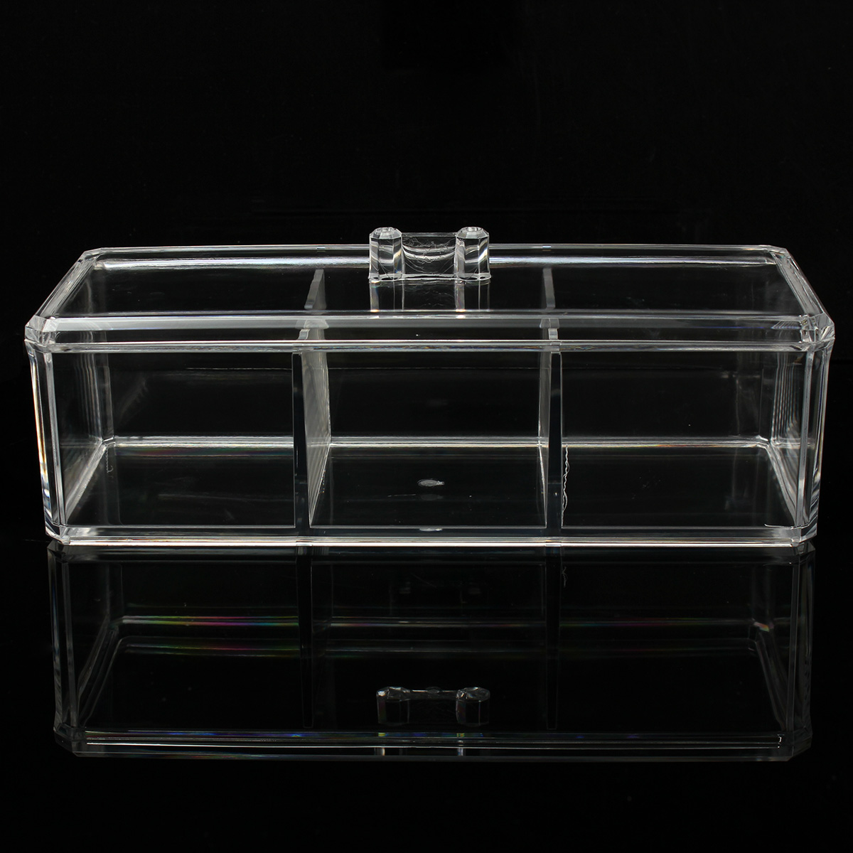 Clear Acrylic Make Up Box Organiser Cosmetic Display