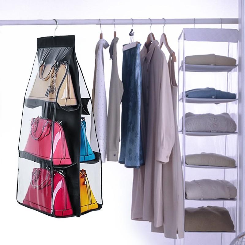 neufu 1 x 6 poches de rangement suspendre sac mural chaussures pliable noir achat vente. Black Bedroom Furniture Sets. Home Design Ideas