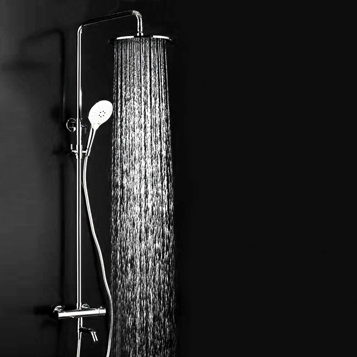 douche en acier inox effet pluie de t te pomme pommeau douchette 20cm 360 achat vente. Black Bedroom Furniture Sets. Home Design Ideas