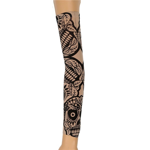 6pcs Tattoo Sleeves Mix Style Stretchy Temporary Halloween Party Arm Stockings
