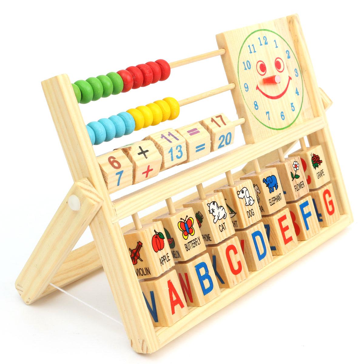 bois jouet boulier chiffres b b ducatif horloge achat. Black Bedroom Furniture Sets. Home Design Ideas