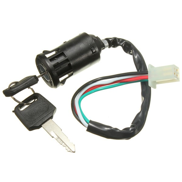 Universal Motorcycle Ignition Switch Motor Bike 4 Wires With 2 Keys