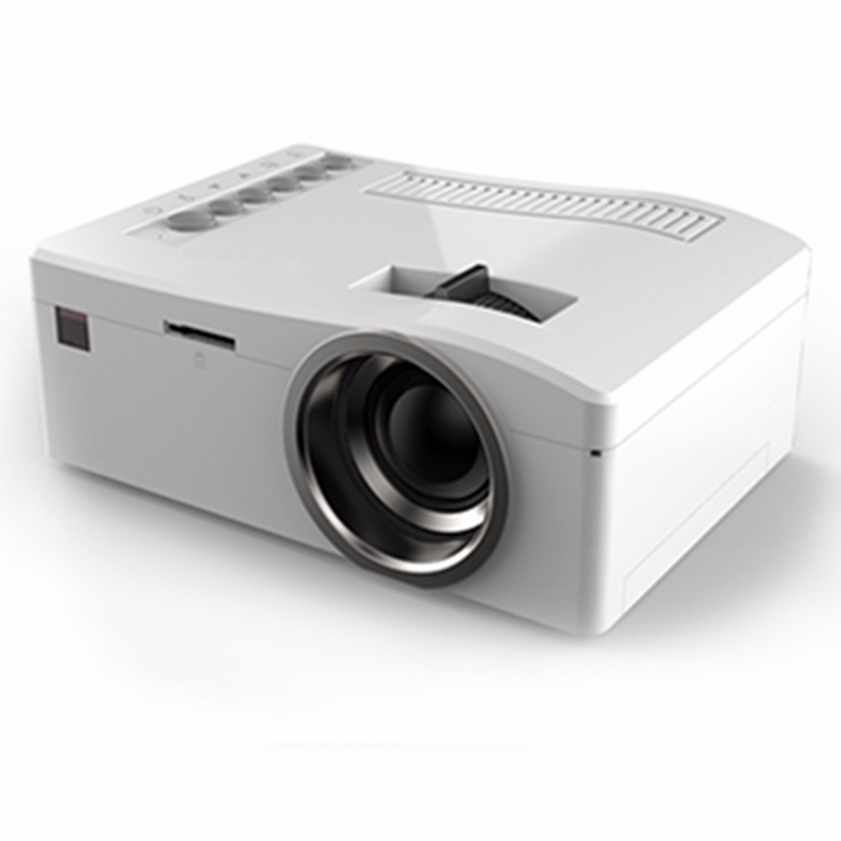 Hd 1080p led home mulitmedia theater cinema usb tv vga sd for What s the best pocket projector