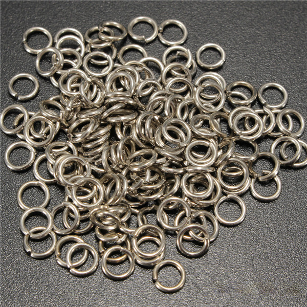 100pcs 4mm Jump Rings Open Connecctors Circle Metal Findings DIY Accessories