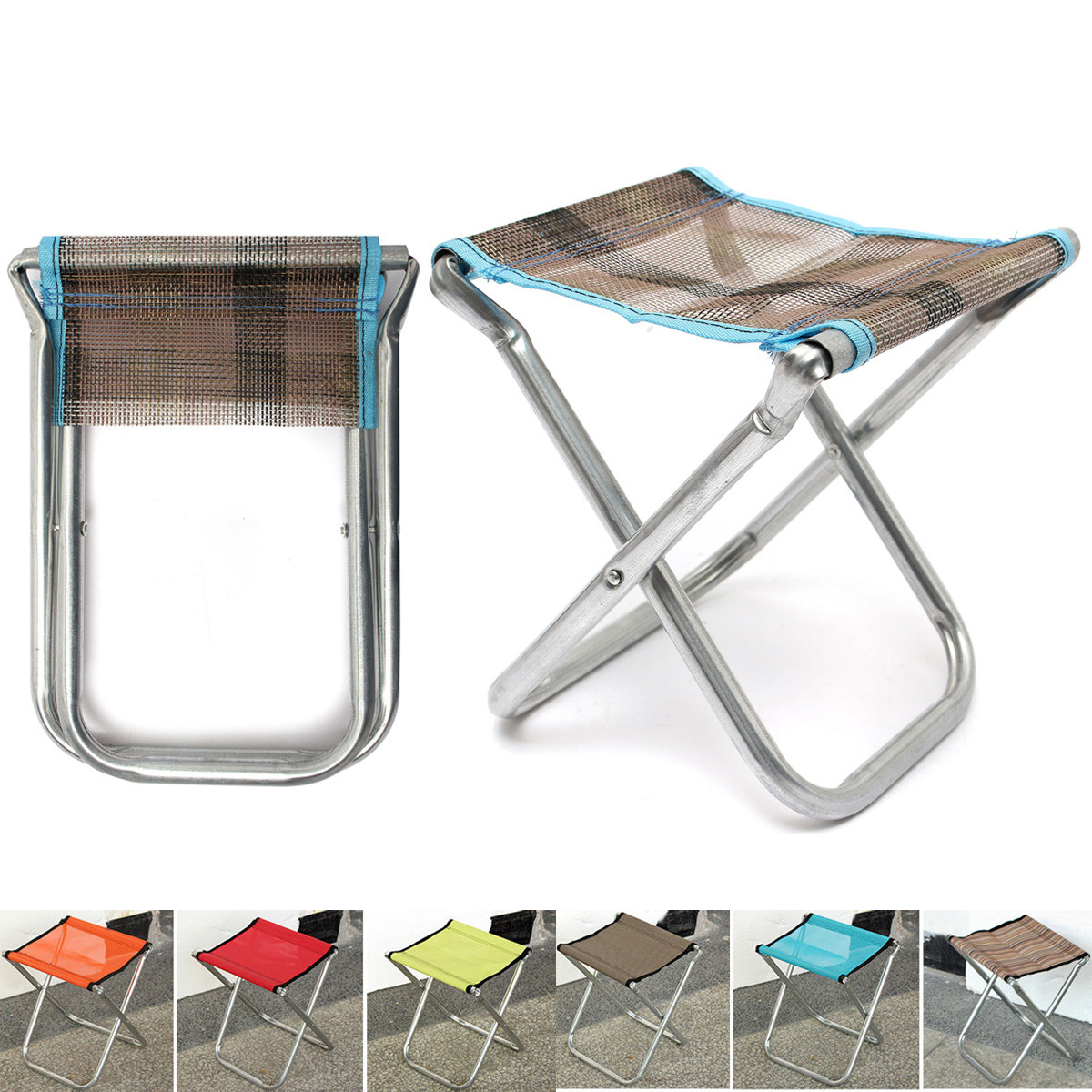 Portable Fishing Chair Seat Backpack Folding Chair Stool Outdoor Camping Picn