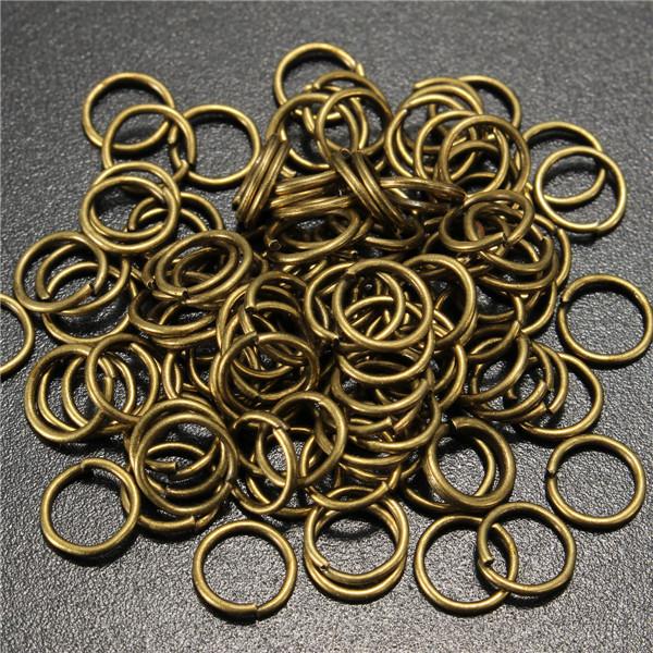 100pcs 6mm Jump Rings Open Connecctors Circle Metal Findings DIY Accessories