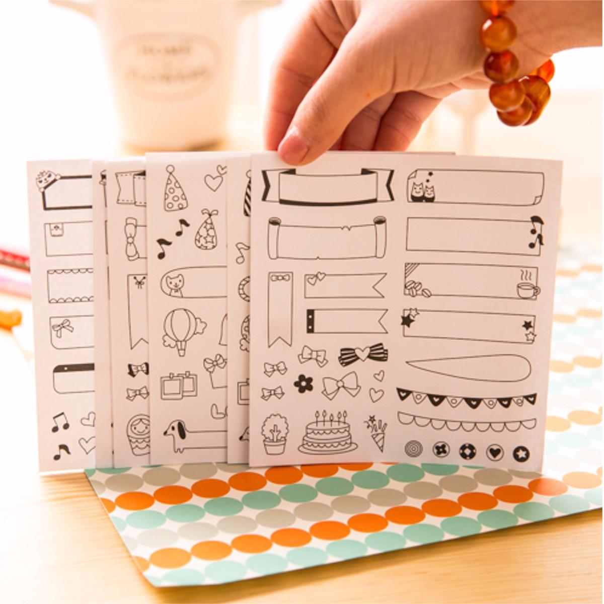 Diy Calendar Singapore : New sheets diy calendar photo paper sticker scrapbook