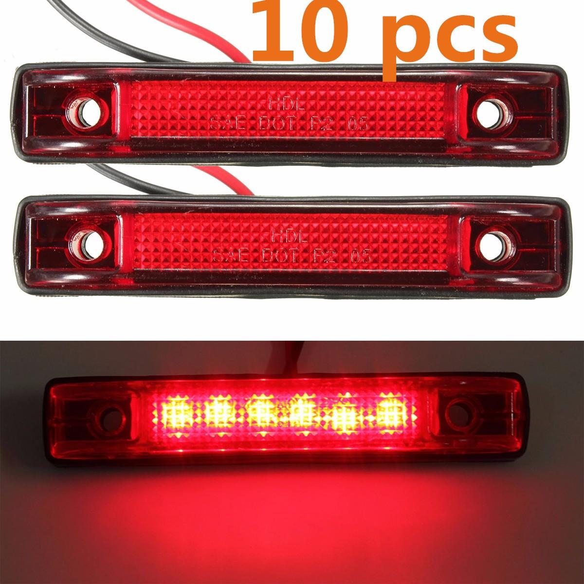 10 x led c t lampe camion remorque voiture 12v 24v rouge achat vente phares optiques feux - Decoration interieur camion ...