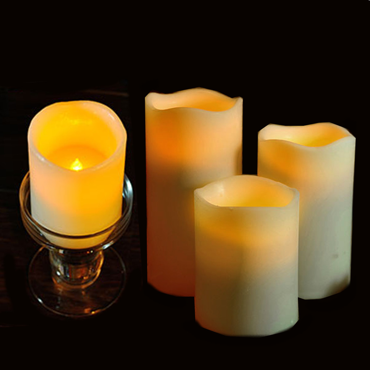 4pcs of 1set fashion led flameless flickering tealight for Decoration candles