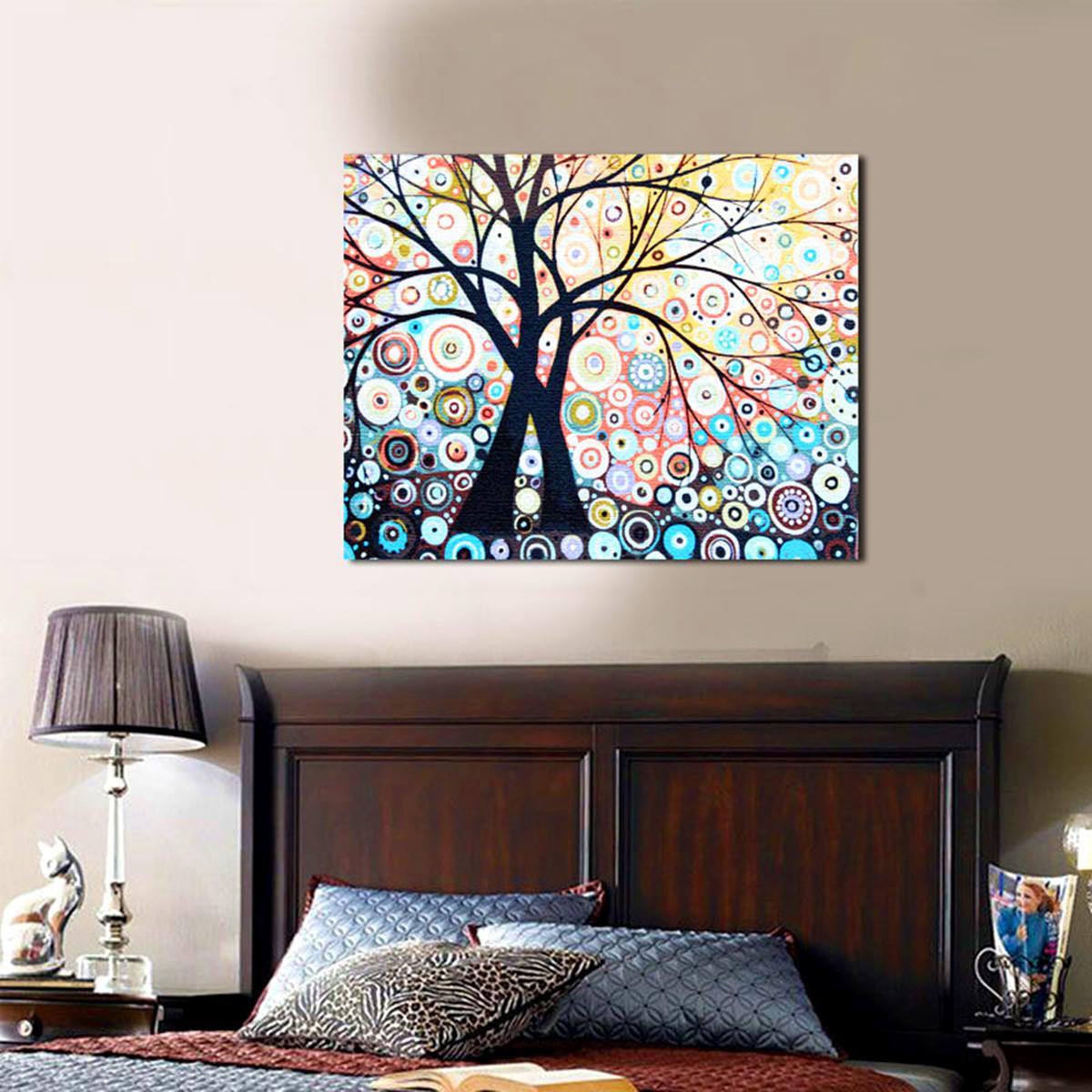 set tableau peinture huile painting arbre diy abstraite moderne art d cor mur achat vente. Black Bedroom Furniture Sets. Home Design Ideas