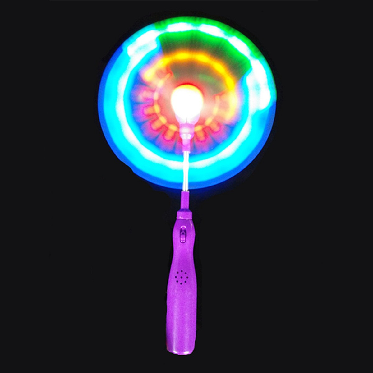 light up led rainbow spinning windmill glows toy forpresent gift party. Black Bedroom Furniture Sets. Home Design Ideas
