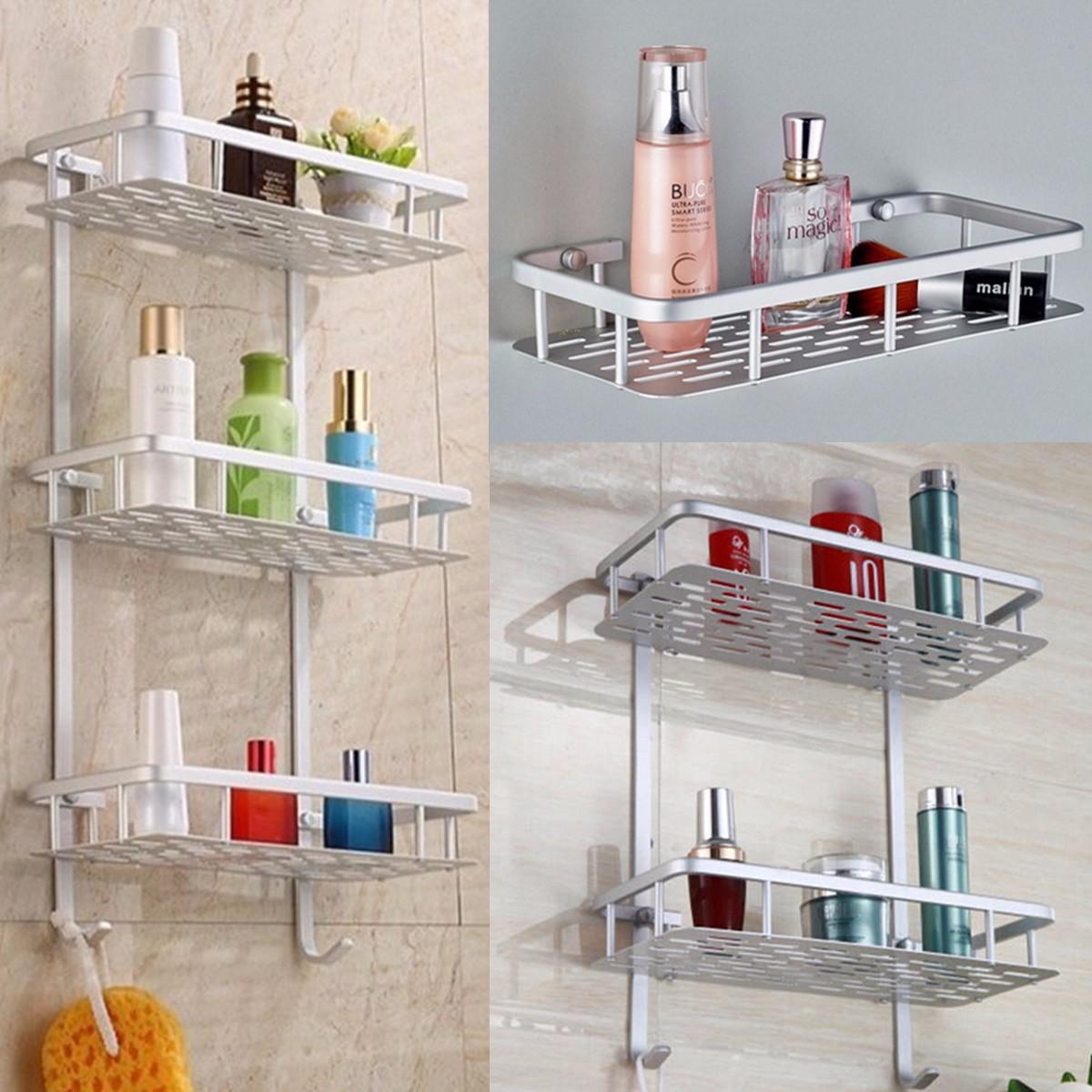 Home Bathroom Space Side Mount Shower Caddy Storage Organizer Shelf ...