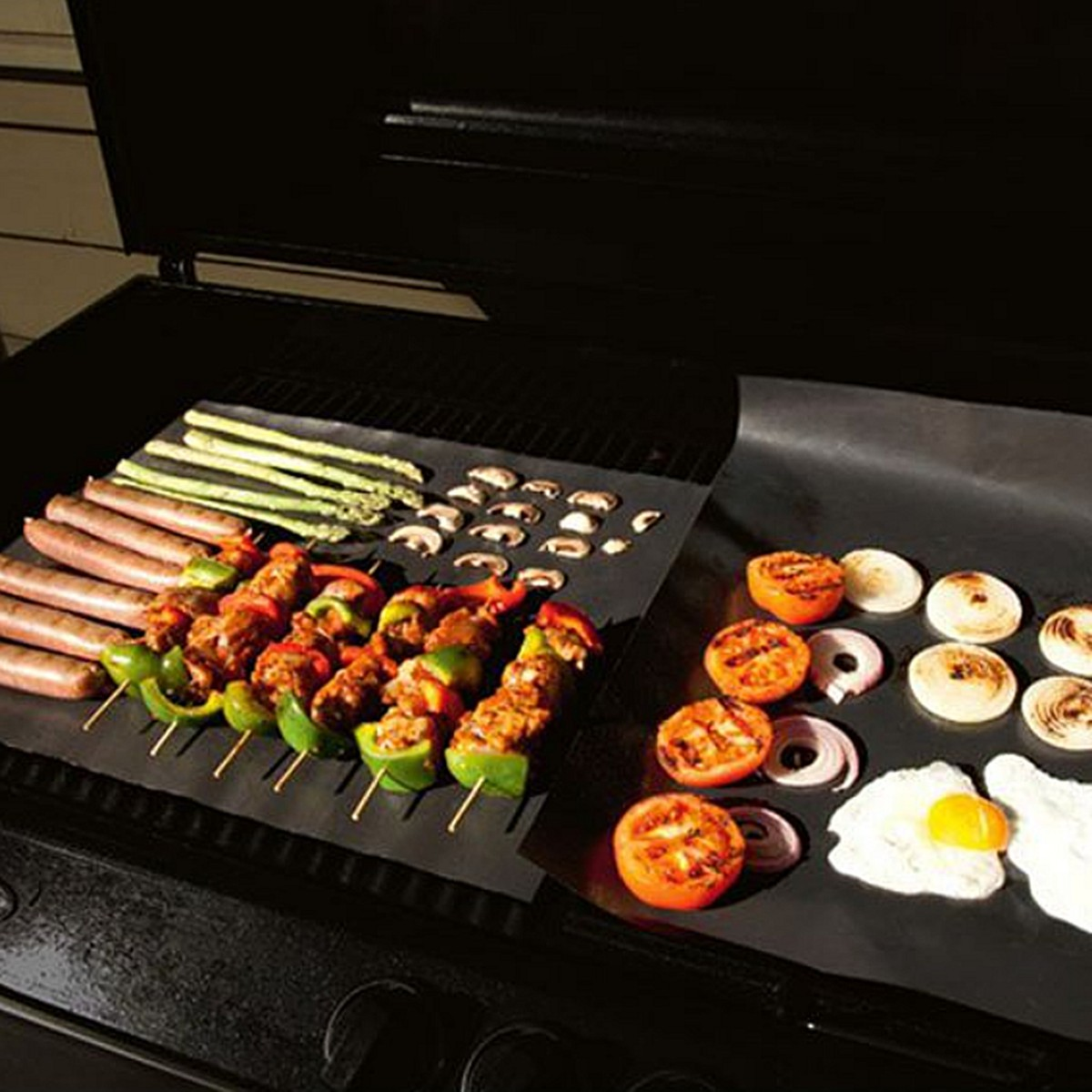 50x40cm Black Non Stick Bbq Oven Trays Liner Plate Cooking