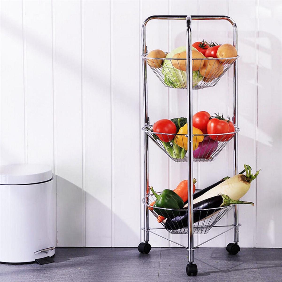 3 Tier Basket Rack Stand Fruit Vegetable Metal Storage Holder Kitchen Display Lazada Singapore