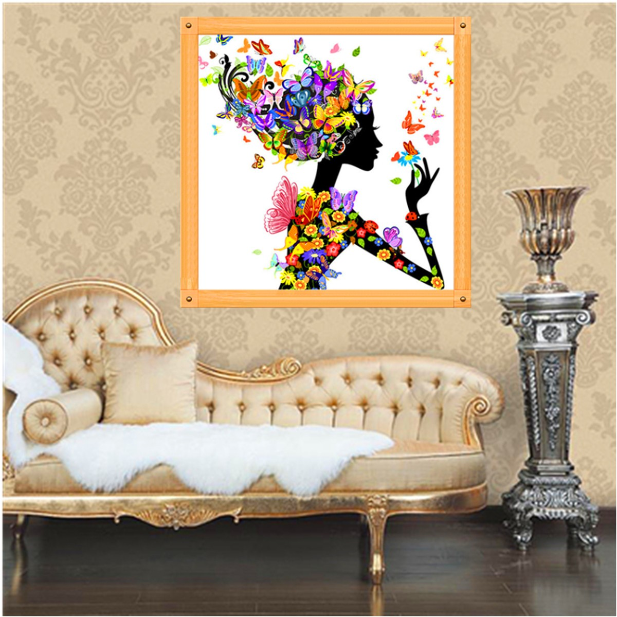 Flower fairy design 5d diamond painting cross stitch kits for Home decor 5d